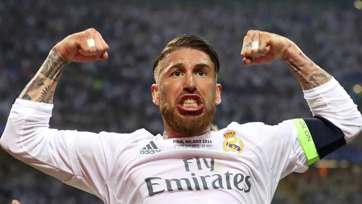 Sergio Ramos celebra el 1-0. (Reuters)