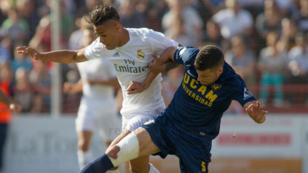 Mariano, en el partido de ida contra el UCAM. (Realmadrid.com)