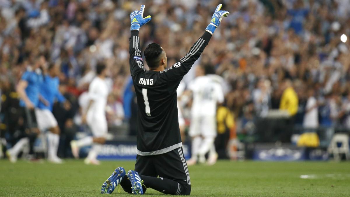 Keylor Navas celebra la victoria ante el Atlético en la final de Champions. (Reuters)