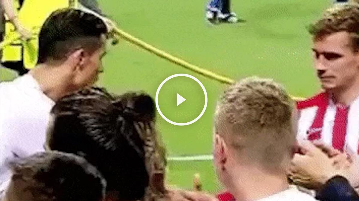 El detallazo de Cristiano con Griezmann tras la final de la Champions