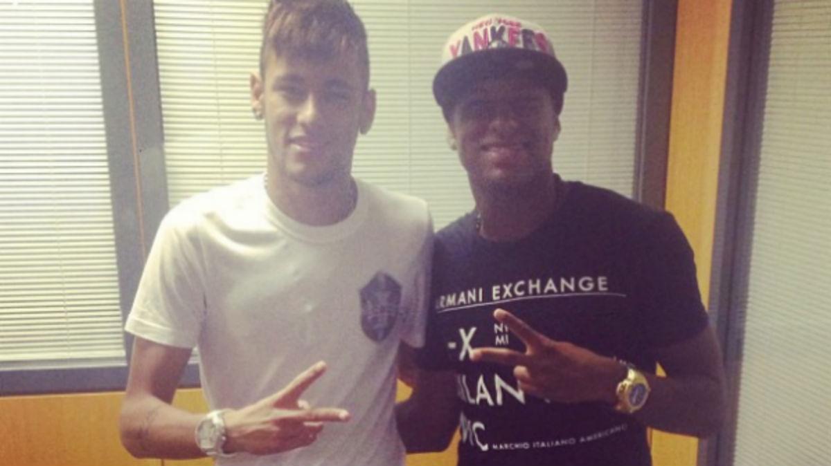 Neymar y Robert Gonçalves, en Instagram.