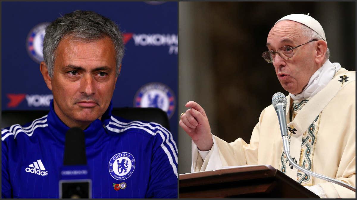 Mourinho y el Papa Francisco.