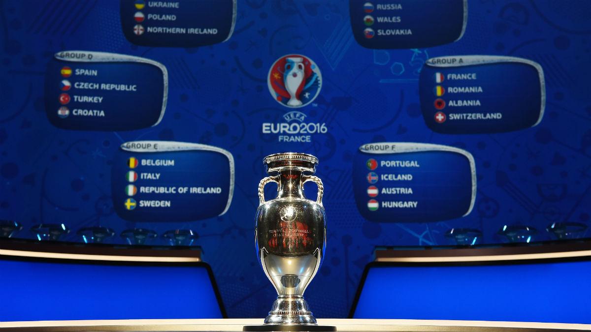 Imagen del sorteo de la Eurocopa 2016. (Getty)
