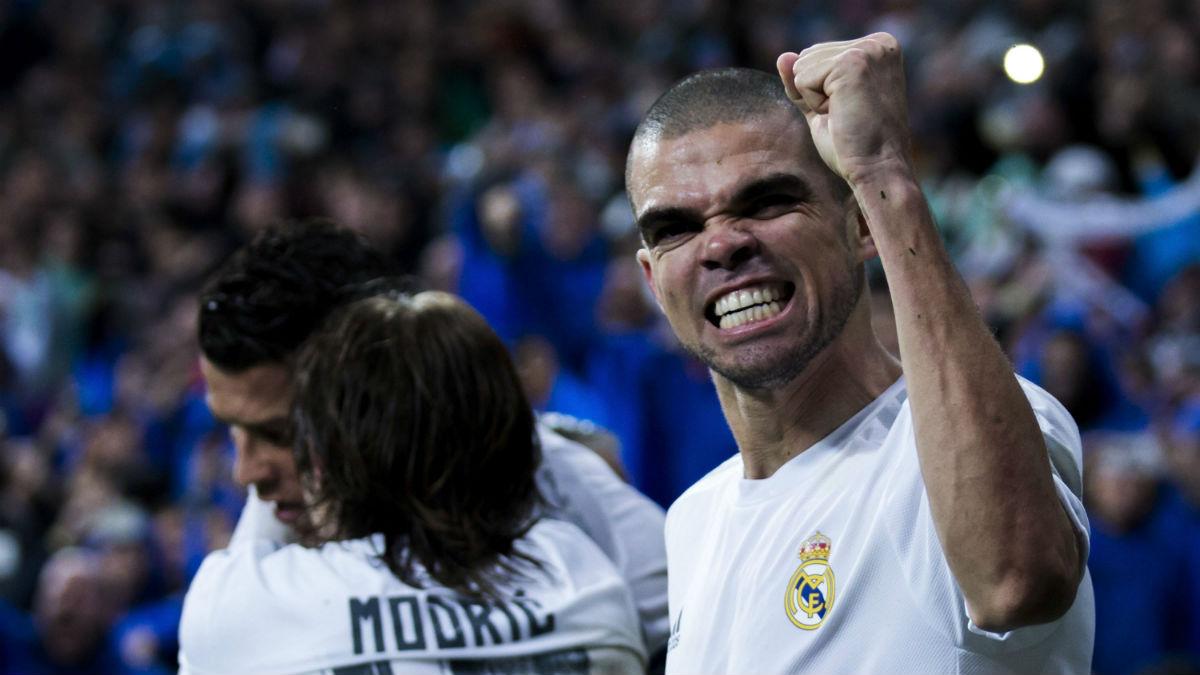 Pepe celebra un gol con el Real Madrid. (Getty)