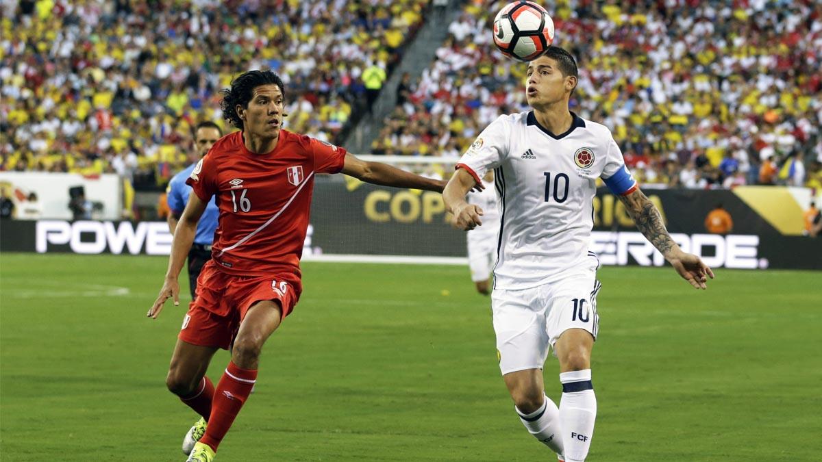 James Rodríguez ante Perú en los cuartos de la Copa América 2016 (Foto: Reuters)