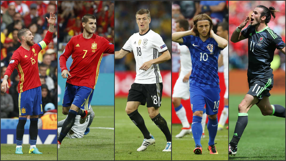 Cinco madridistas en el top-10 del Barómetro de la UEFA: