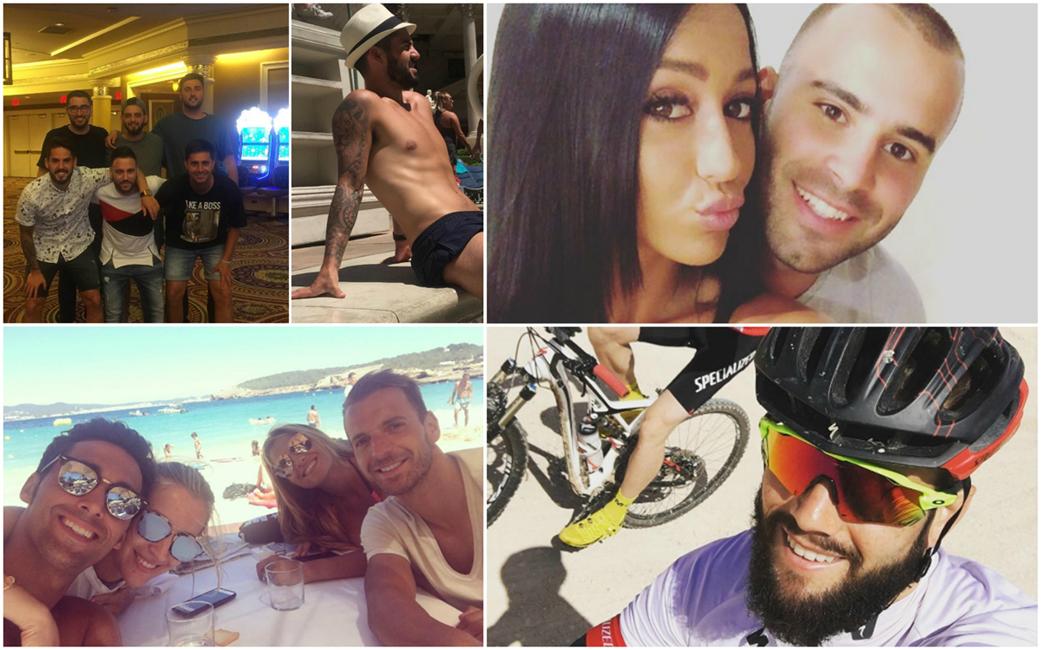 Algunos jugadores del Real Madrid, disfrutando de sus vacaciones.