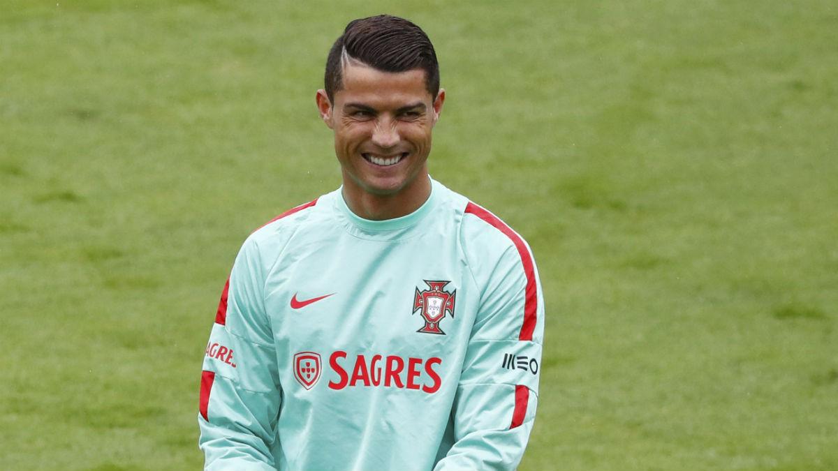 Cristiano Ronaldo, en un entrenamiento con Portugal. (Reuters)