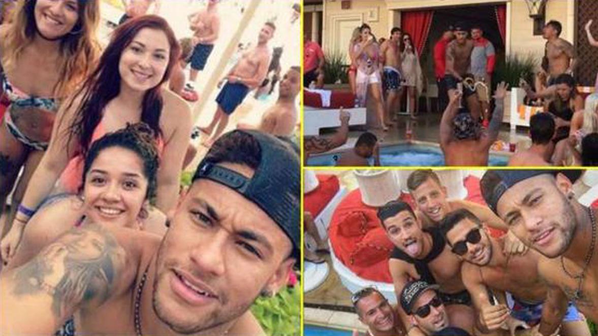 Neymar, en una fiesta hace unos días.