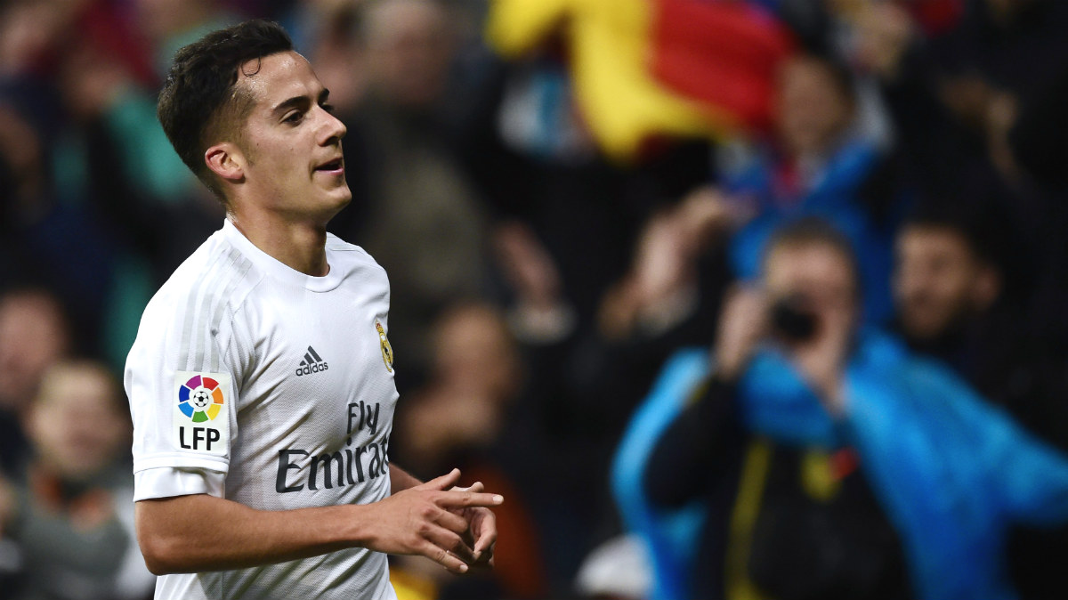 Lucas Vázquez celebra un gol con el Real Madrid. (AFP)