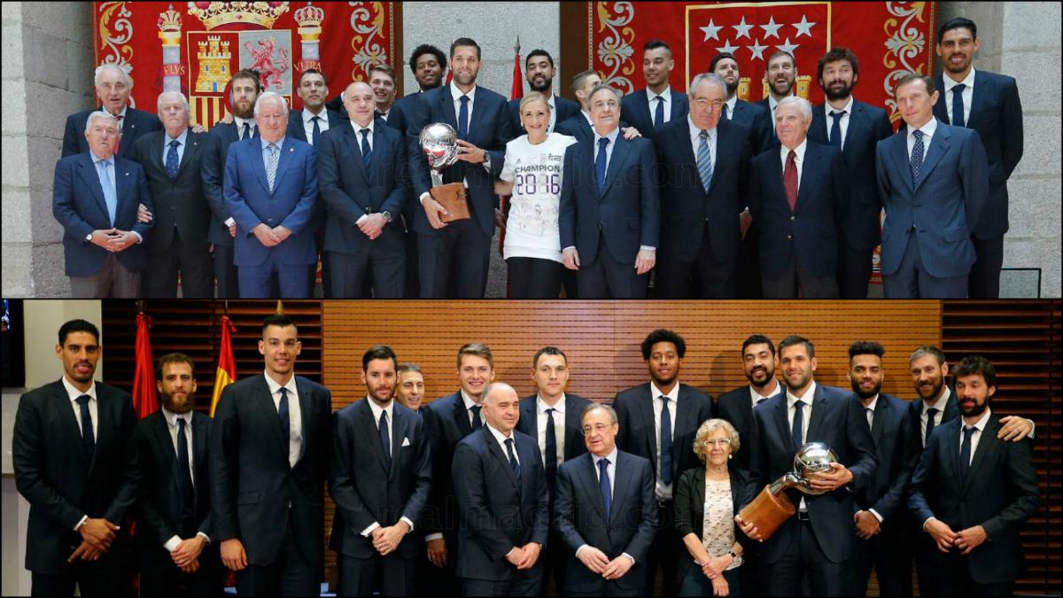 El Real Madrid celebró el título de Liga Endesa. (realmadrid.com)