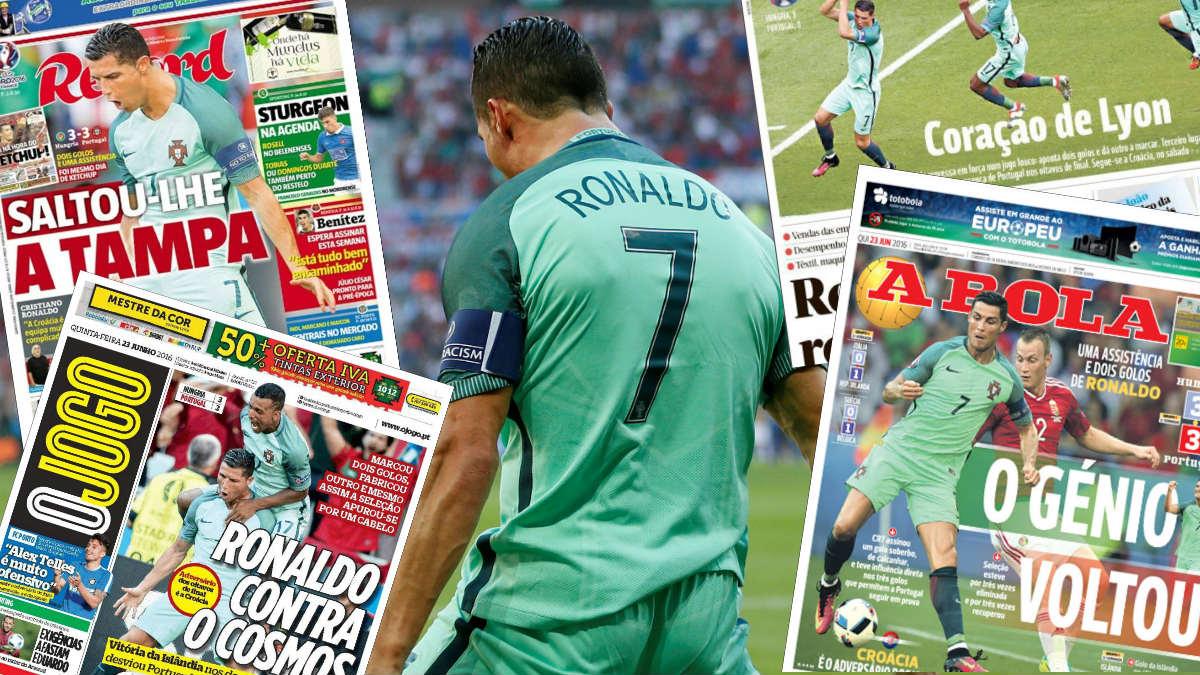 Cristiano Ronaldo, protagonista de las portadas en Portugal.