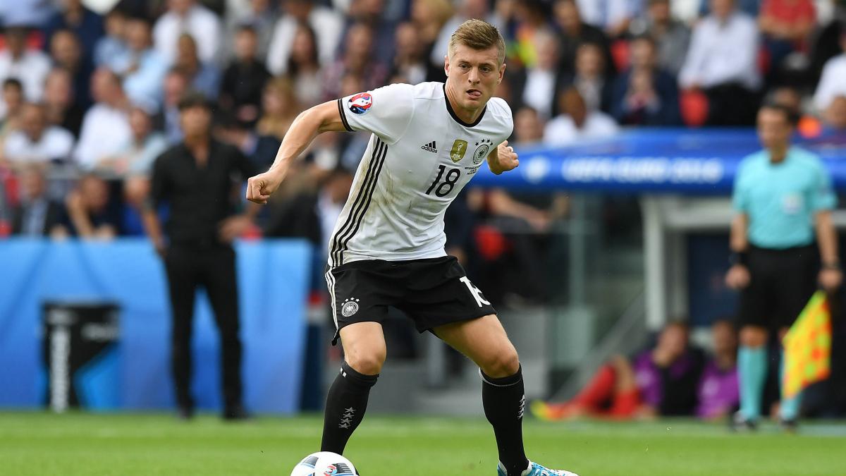 Toni Kroos, en un partido con Alemania. (Getty)
