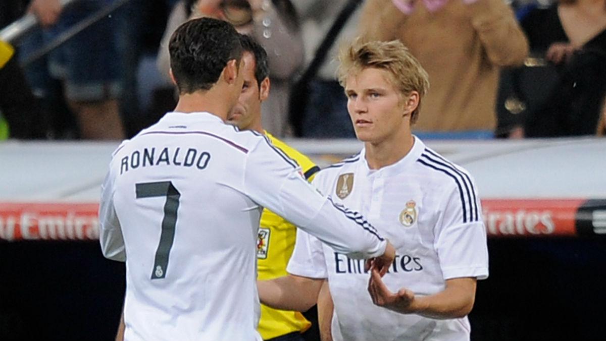 Odegaard sustituye a Cristiano Ronaldo. (Getty)