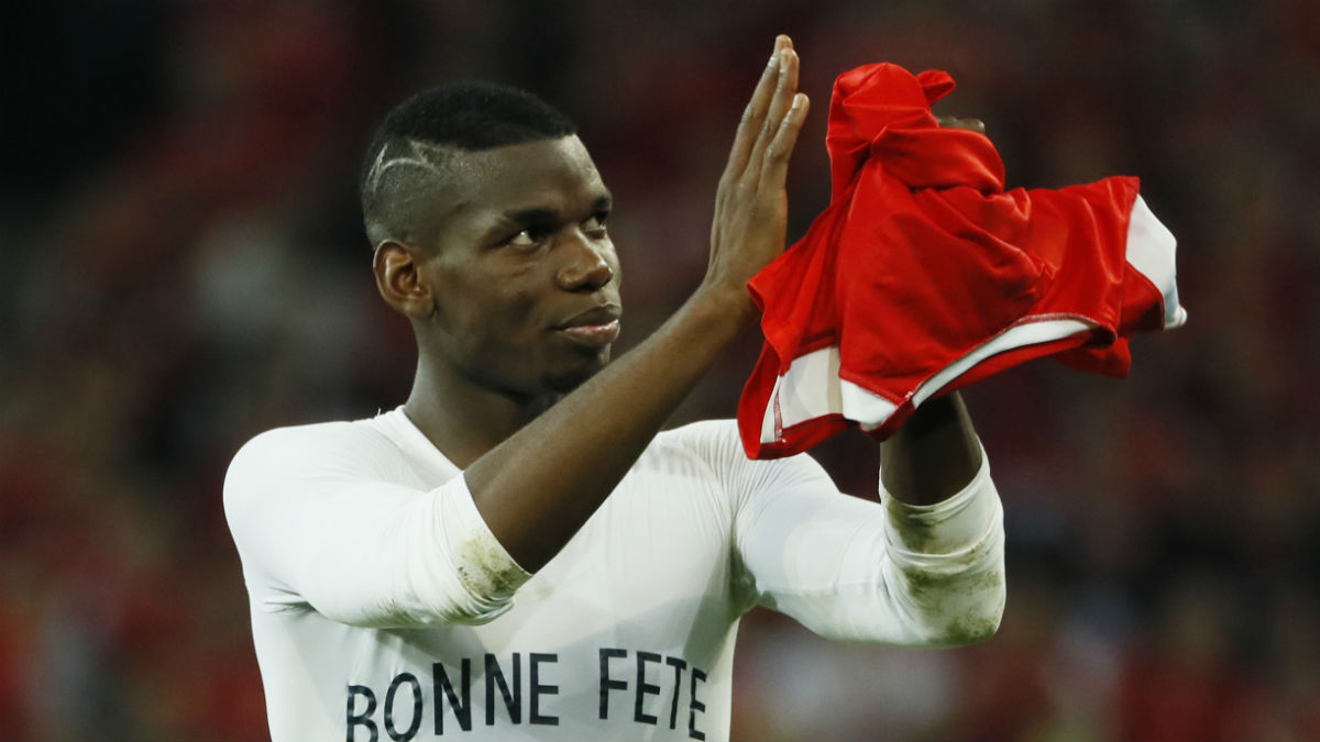 Pogba, tras el partido contra Suiza. (Reuters)