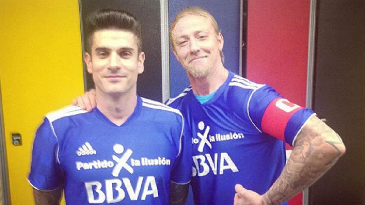 Guti y Álvaro, amigos y entrenadores de la cantera.