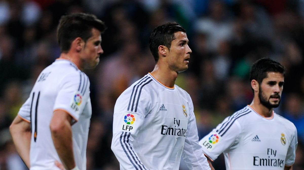 Cristiano, Bale e Isco durante un partido. (Getty)