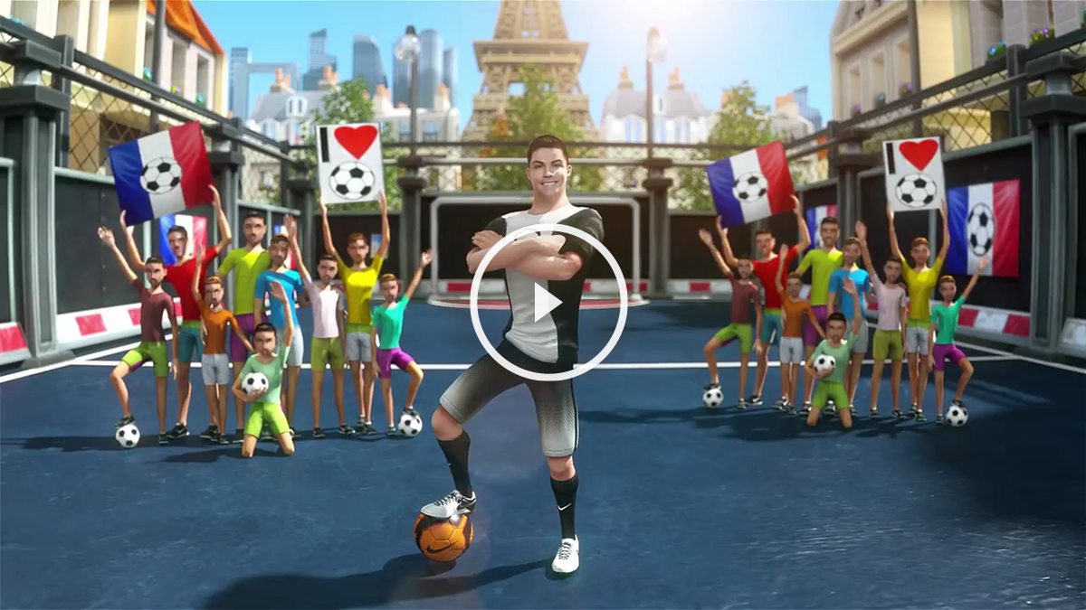 Cristiano Ronaldo, en una imagen promocional del videojuego.
