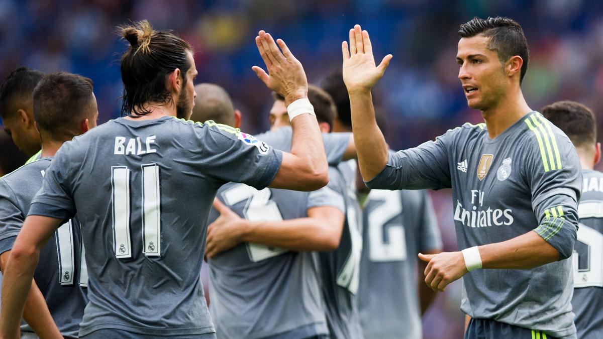 Cristiano y Bale, celebrando un gol durante la pasada temporda.