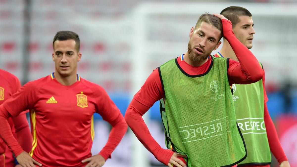 Sergio Ramos, Lucas Vázquez y Morata estarán en la Supercopa de Europa. (Getty)