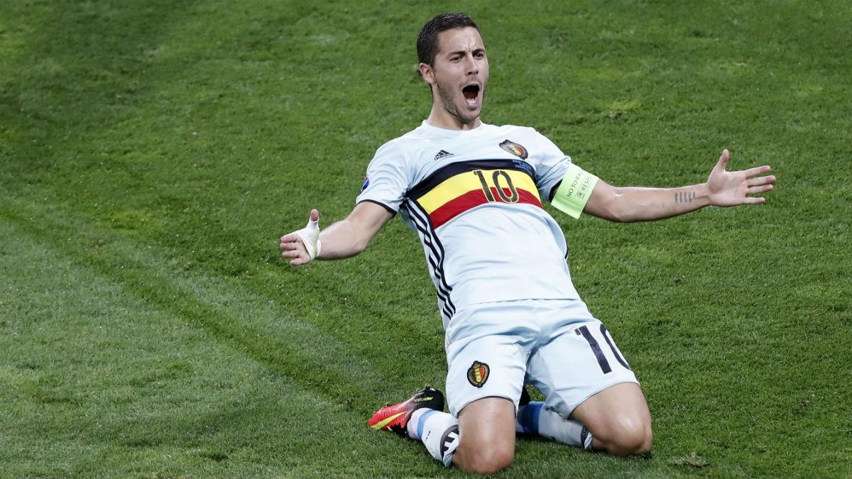 Hazard hizo un partidazo contra Hungría. (Reuters)