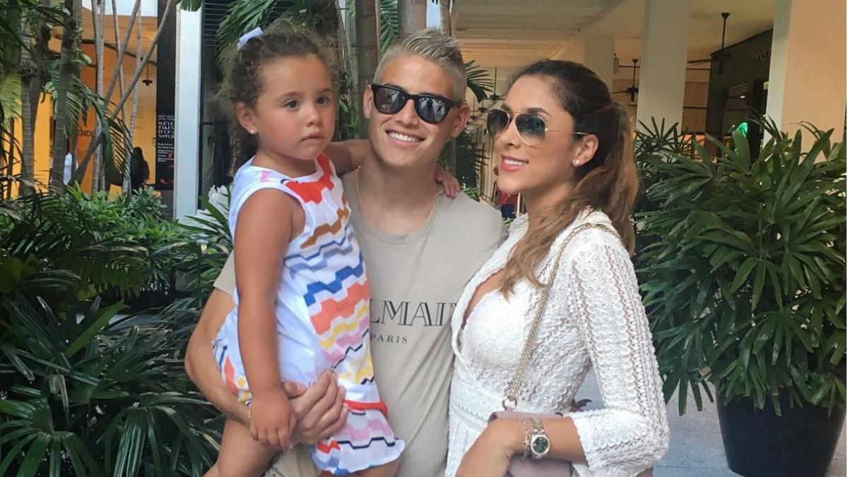 James Rodríguez disfruta de sus vacaciones. (Instagram)