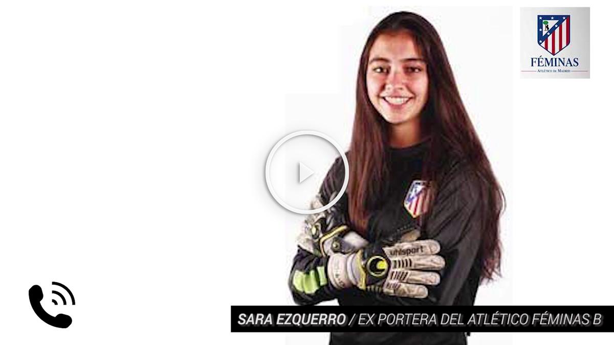 Sara Ezquerro, en un partido con el Atlético. (Foto: clubatleticodemadrid.com)