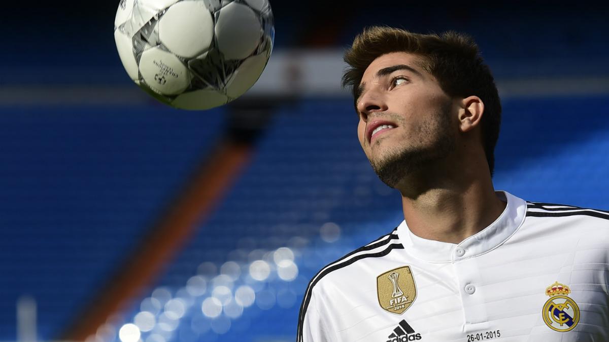 Lucas Silva, en su presentación con el Real Madrid. (Getty)