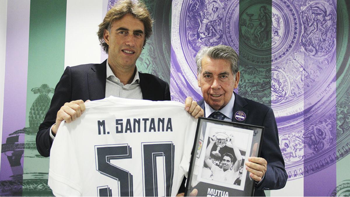 Manolo Santana, en Wimbledon. (MUTUA MADRID OPEN)