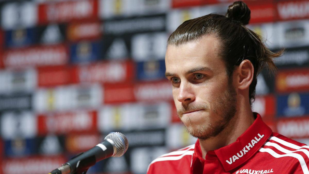 Bale, en rueda de prensa. (Reuters)