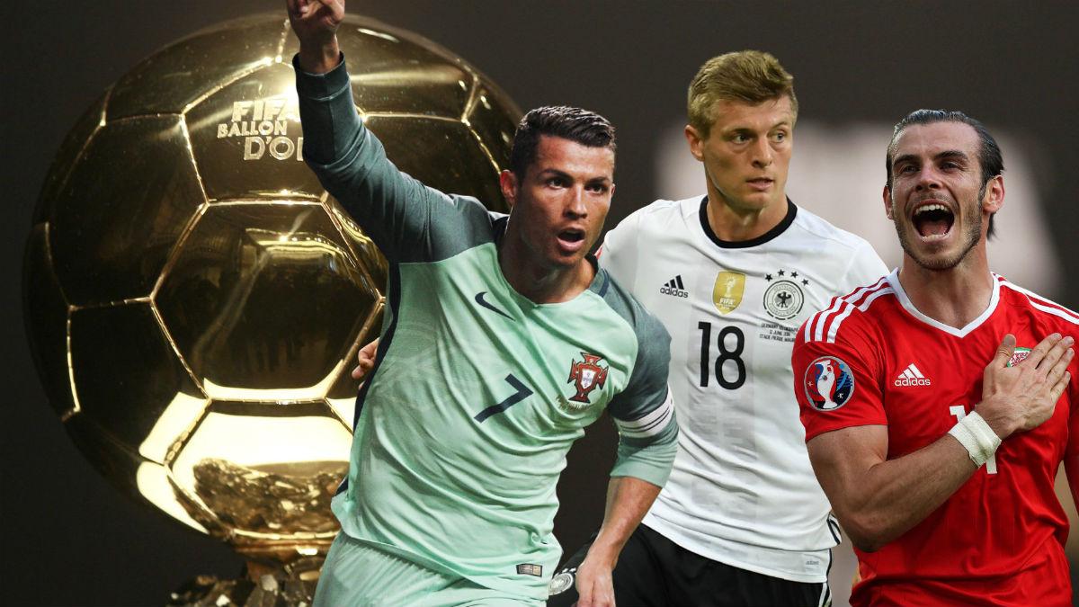 Bale, Kroos y Cristiano, favoritos al Balón de Oro.