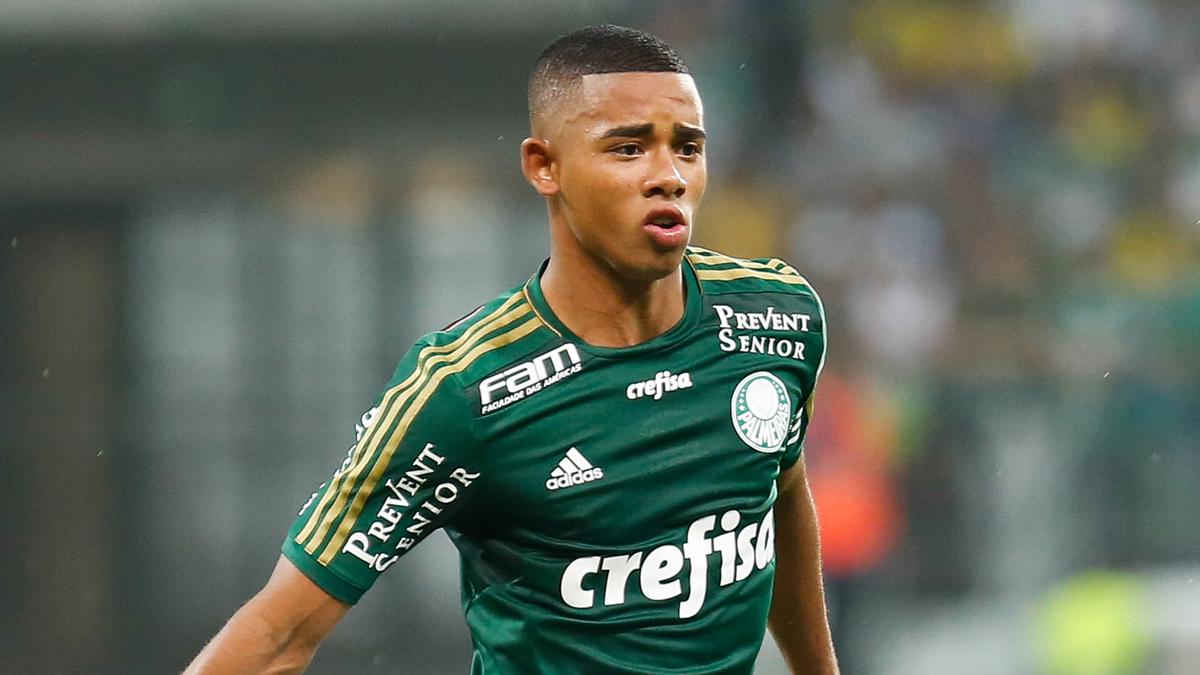 Gabriel Jesús, en un partido con el Palmeiras.