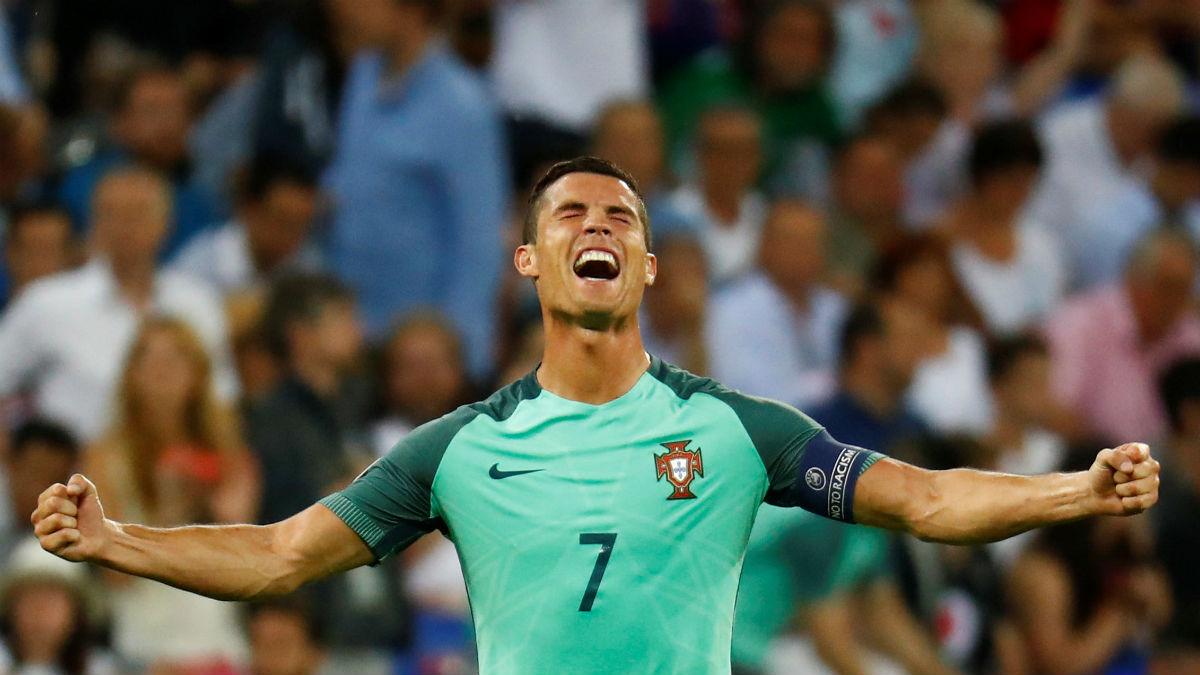 Cristiano Ronaldo celebra el triunfo ante Gales. (Reuters)