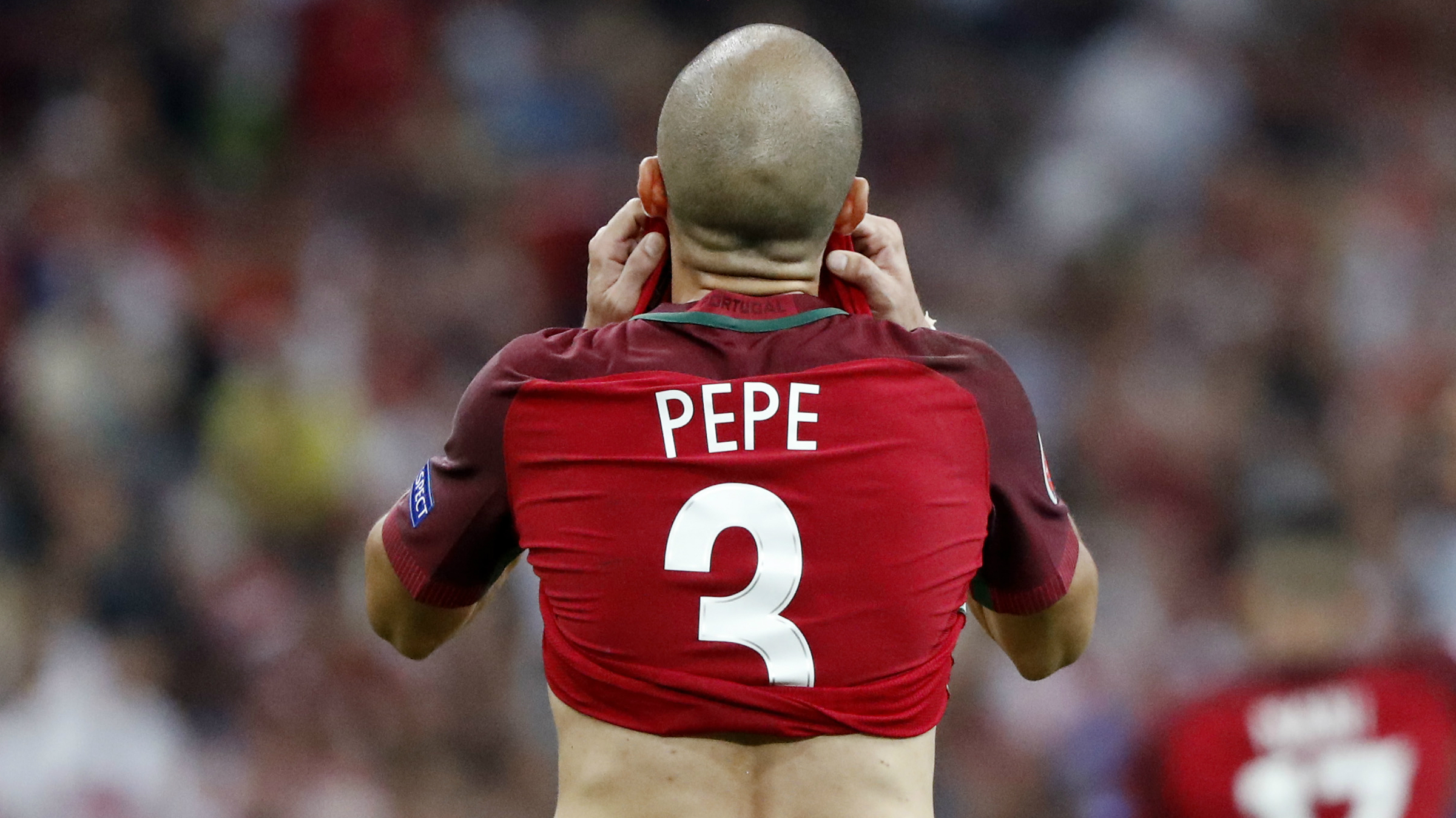 Pepe, durante la Eurocopa.