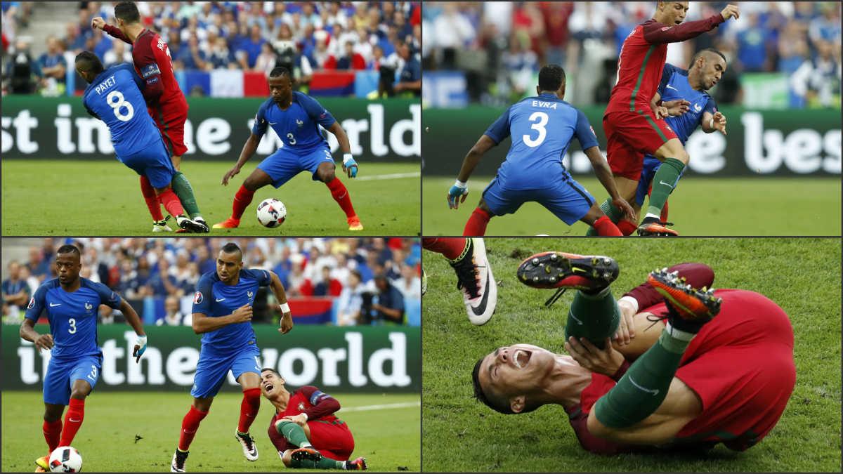 Payet lesionó a Cristiano.
