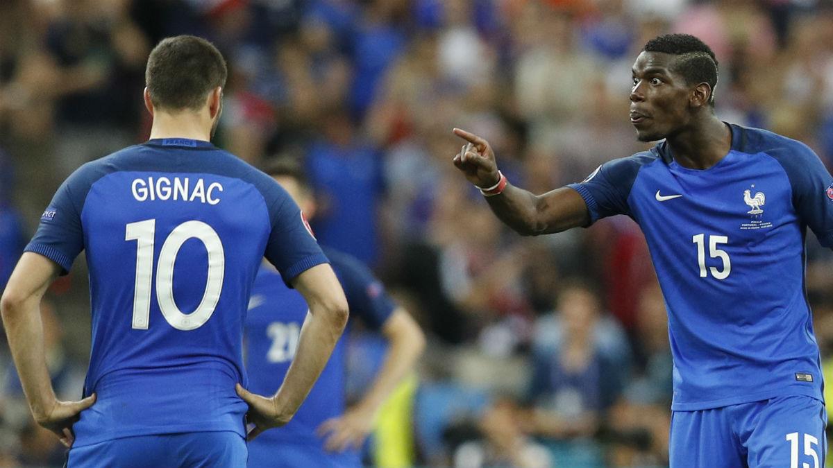 Pogba, muy enfadado tras el gol de Portugal. (Reuters)