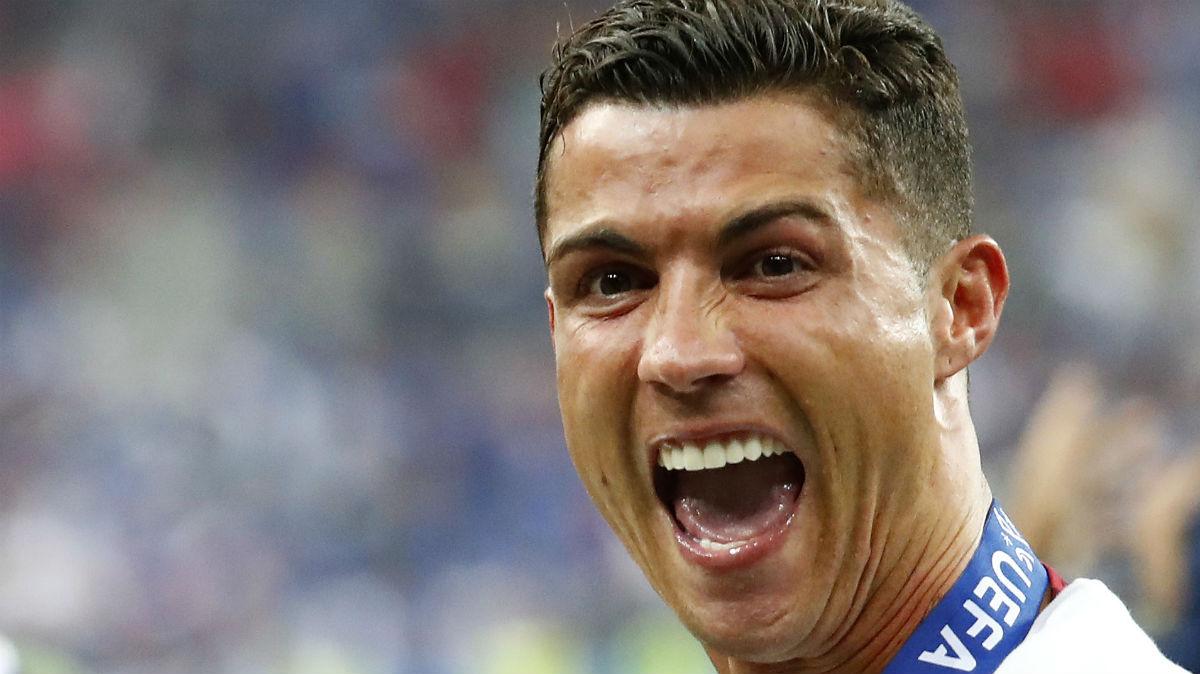 Cristiano Ronaldo, en la celebración de la Eurocopa. (Reuters)