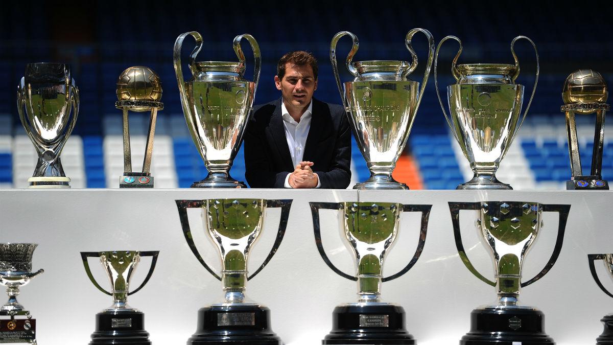 Iker Casillas en el Bernabéu en el día de su despedida. (Getty)