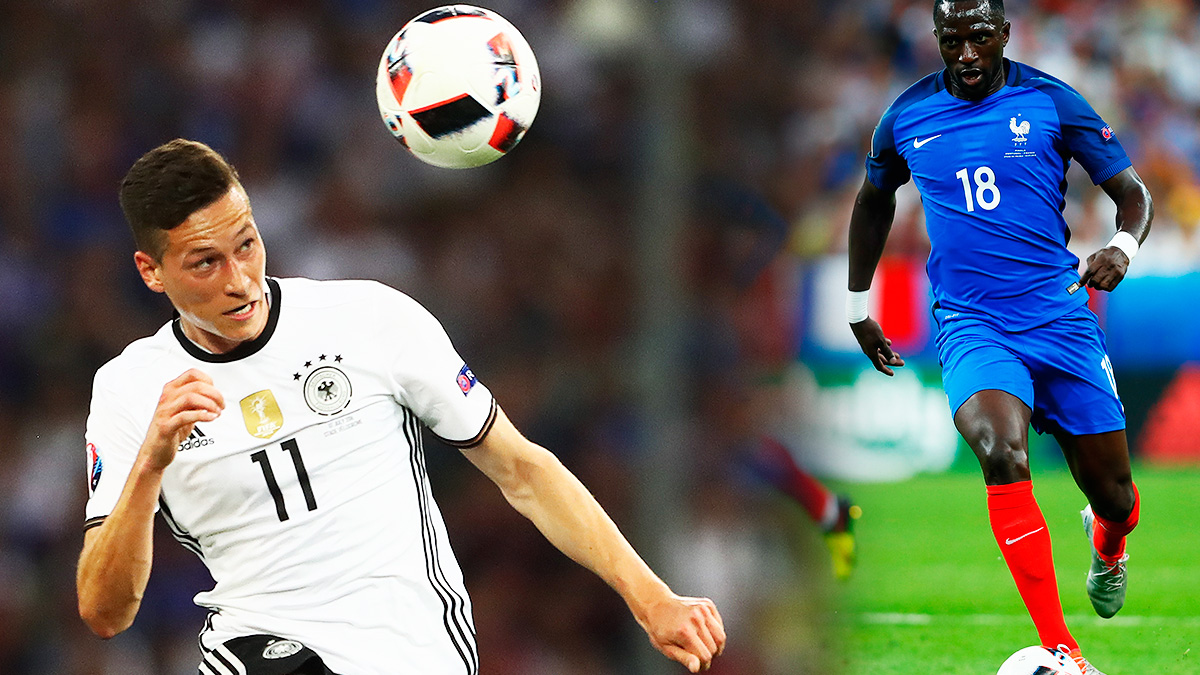 Draxler y Sissoko, objetivos del Real Madrid tras la Eurocopa. (Getty)