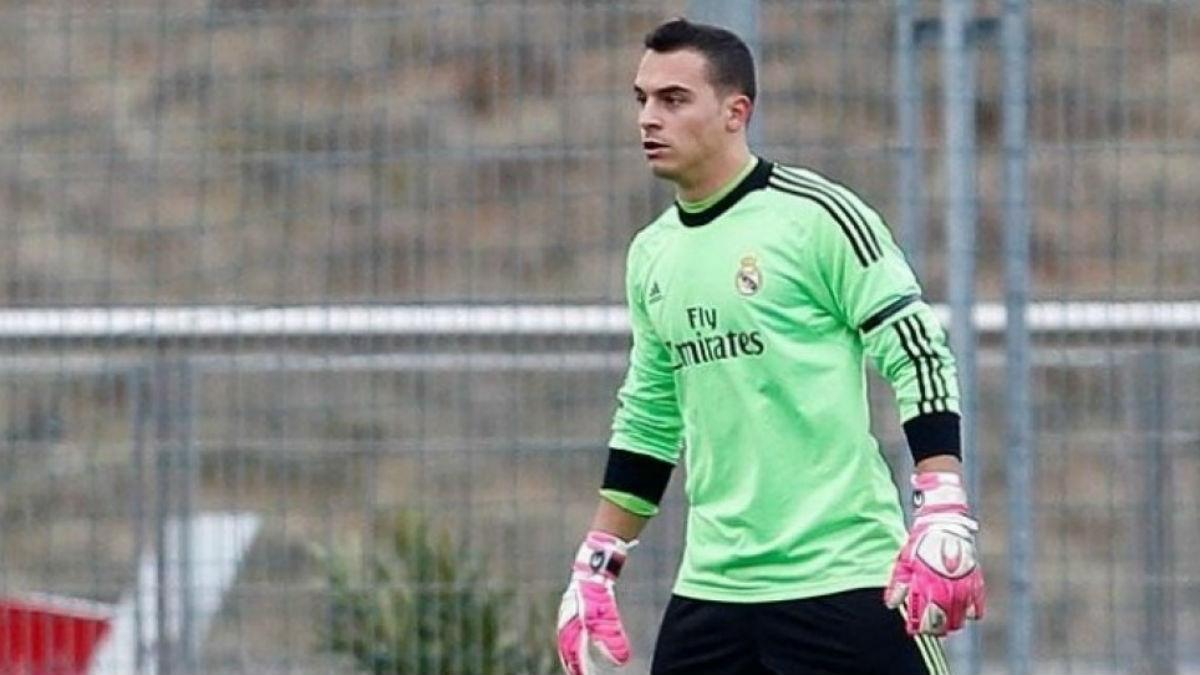 Alfonso Herrero jugando en el Real Madrid. (Realmadrid.com)