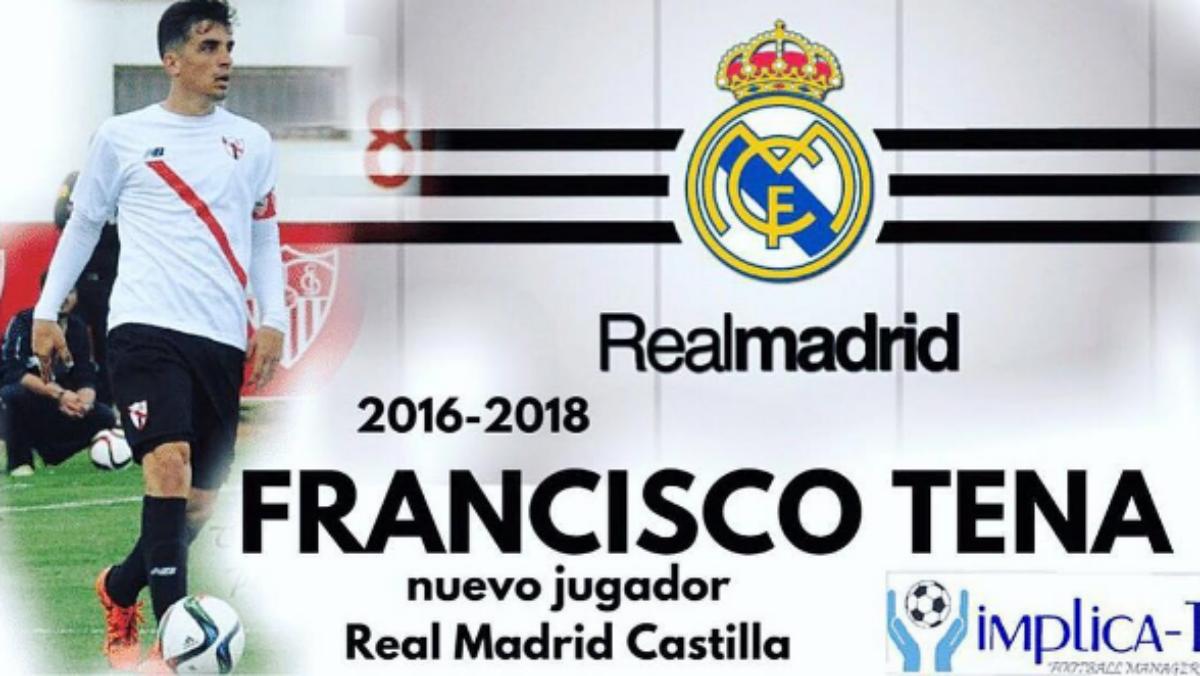 Tena, nuevo jugador del Sevilla. (Instagram de Implica-T)