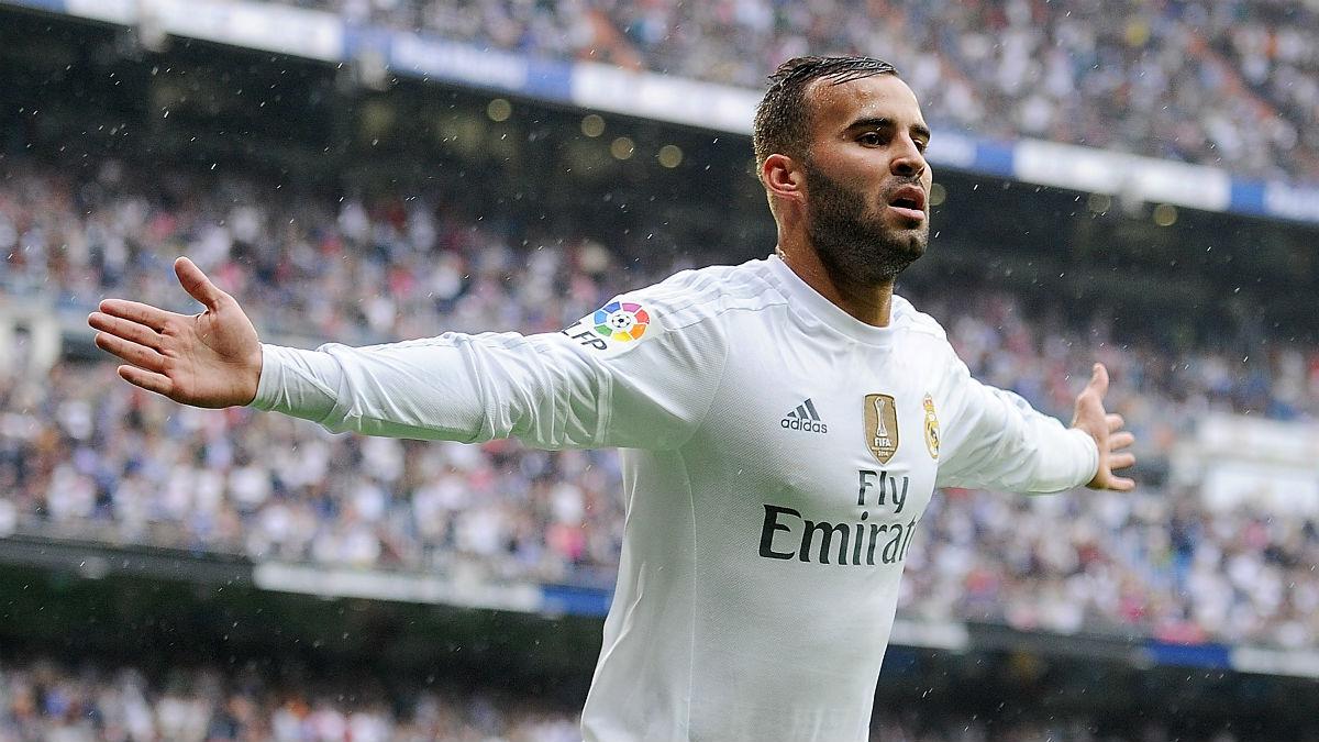 Jesé Rodríguez celebra un gol en el Bernabéu. (Getty)