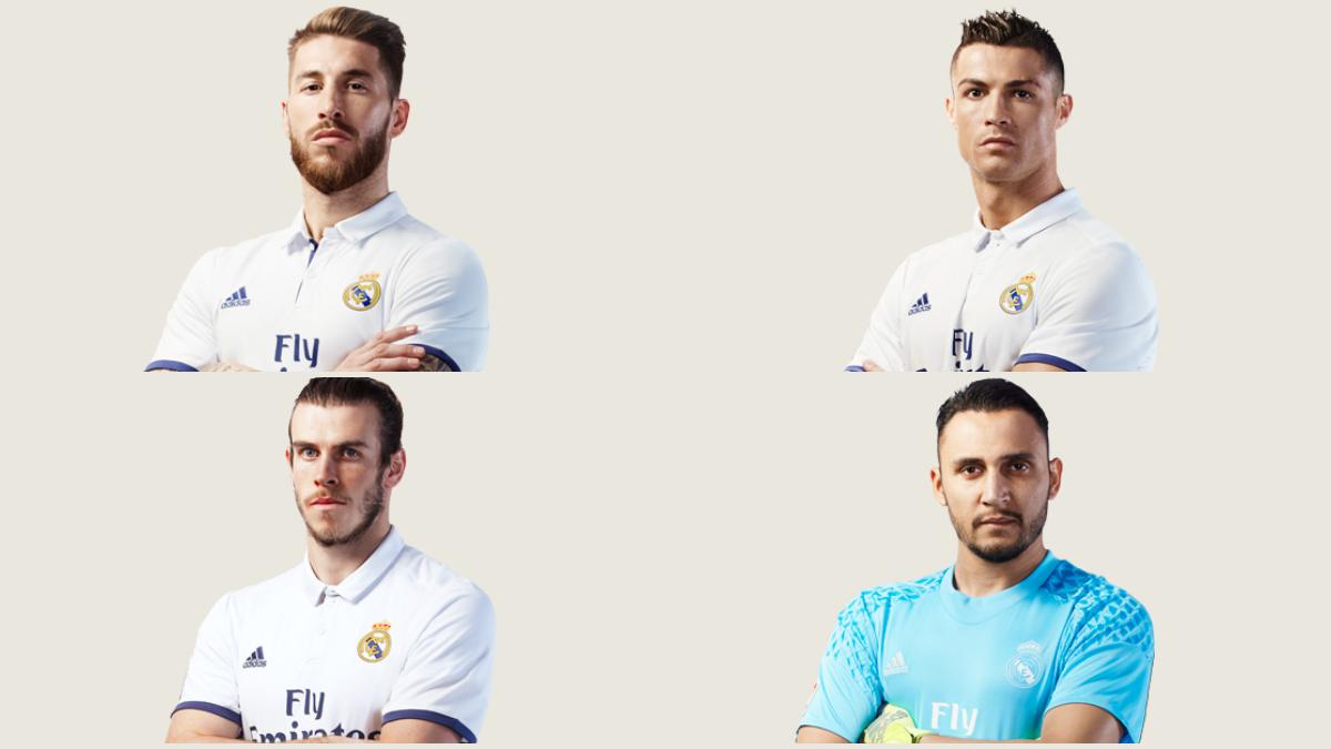 Así le quedan a los jugadores del Real Madrid la nueva camiseta