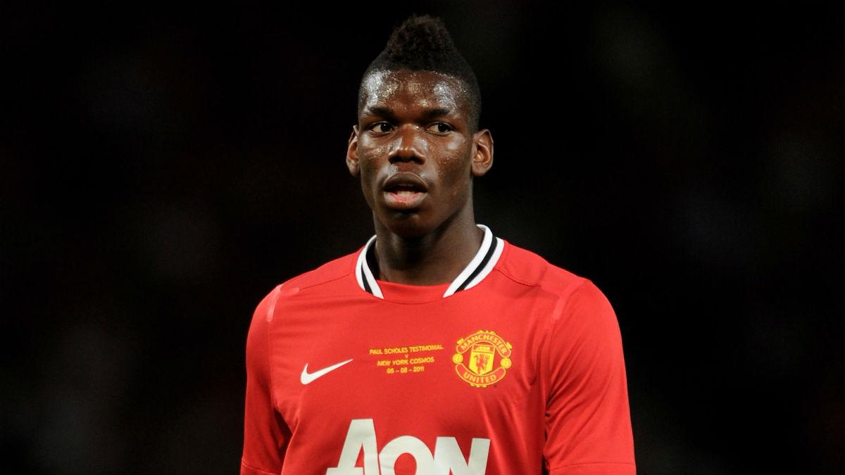 Pogba, en su anterior etapa en el Manchester United. (Getty)