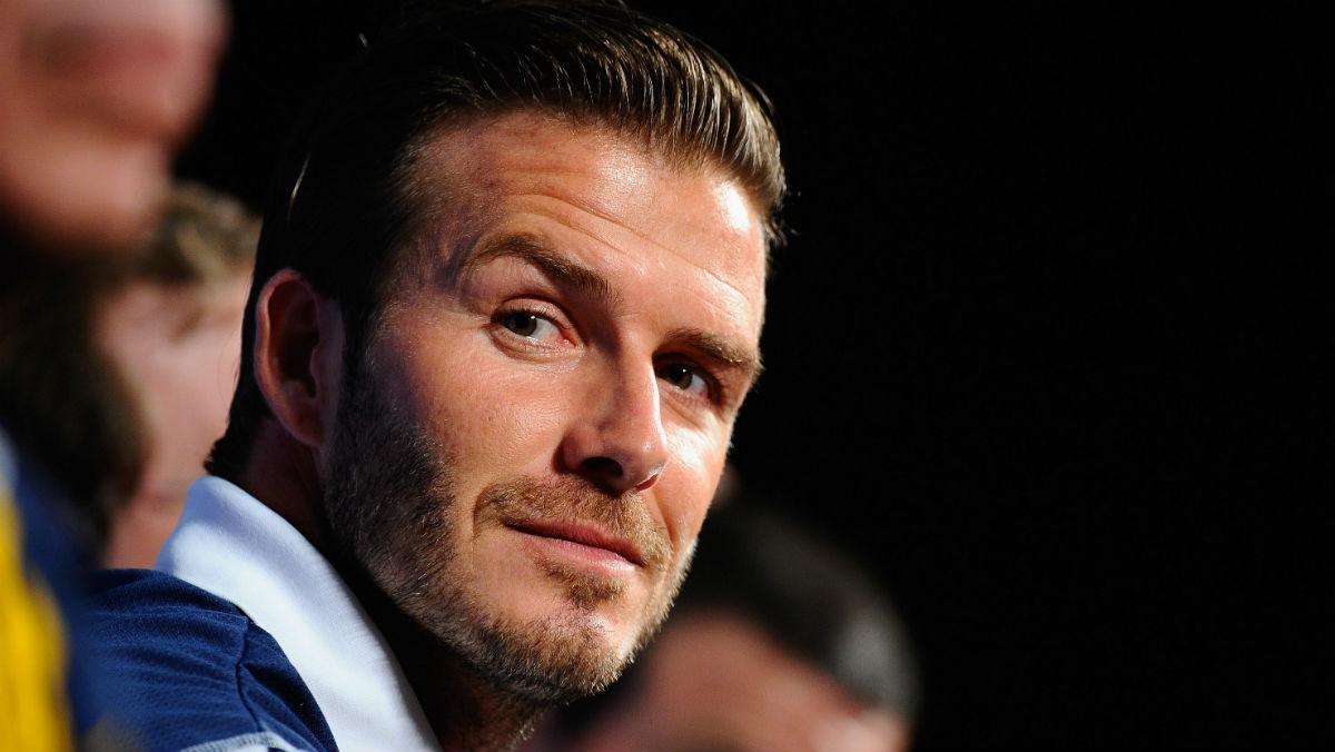Beckham, en una rueda de prensa. (Getty)