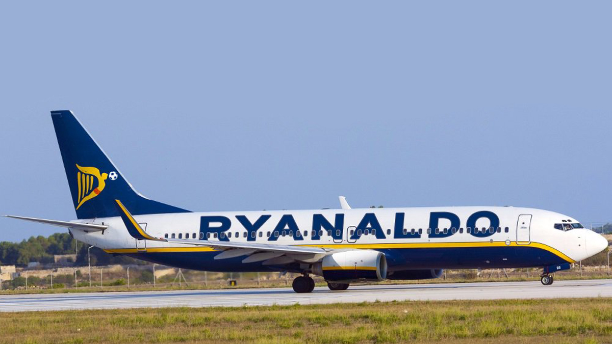 La curiosa felicitación de Ryanair a Cristiano Ronaldo.