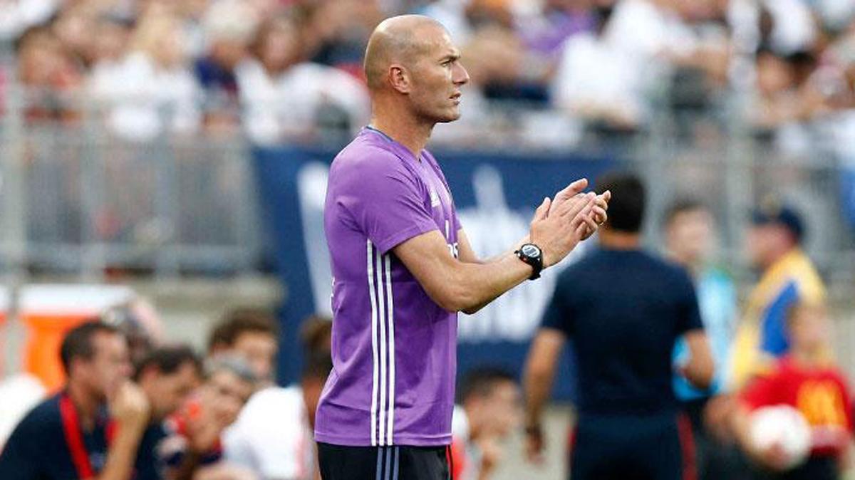 Zidane, durante el partido amistoso contra el PSG.