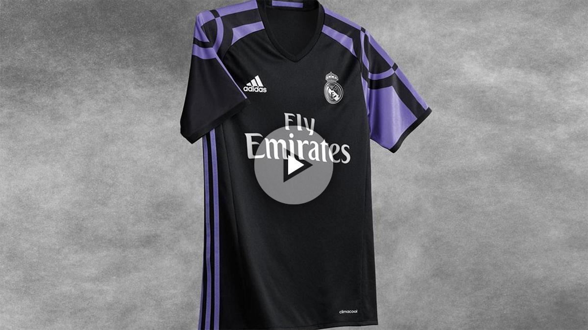 Así será la tercera equipación del Real Madrid. (realmadrid.com)