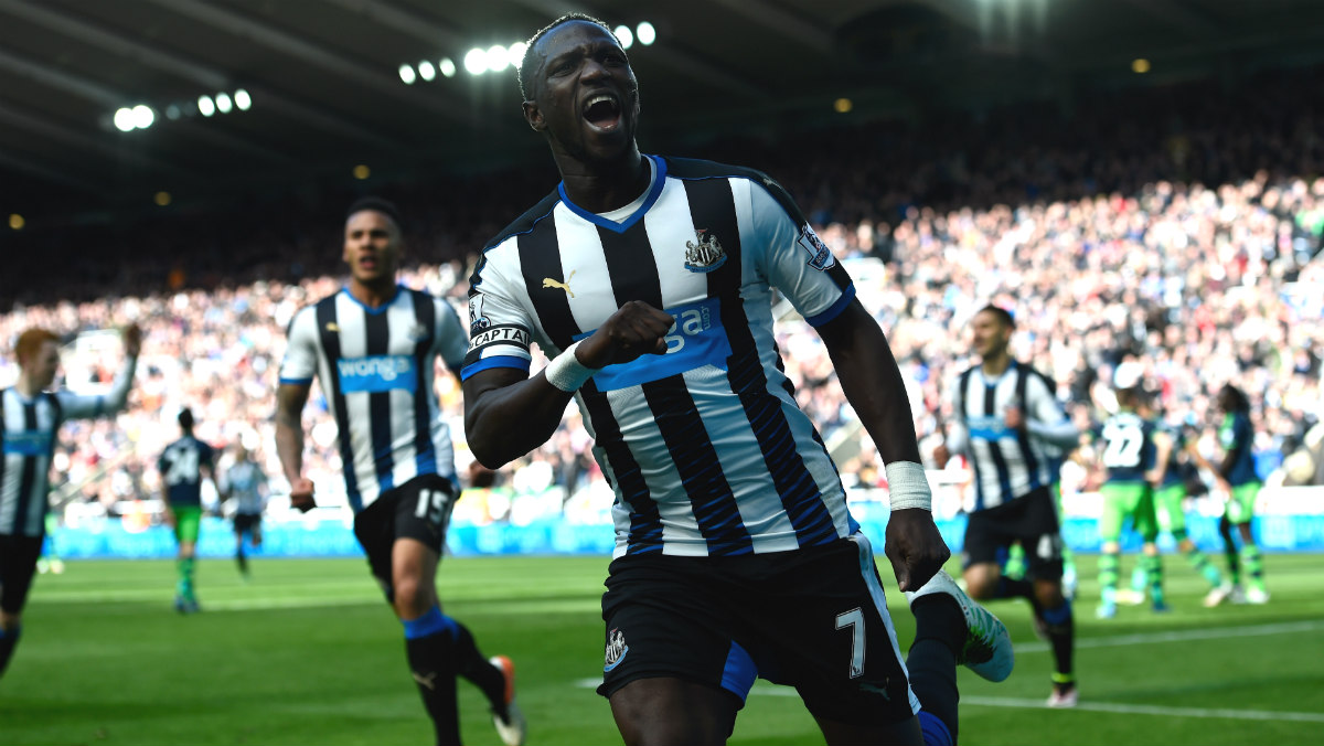 Sissoko celebra un gol con el Newcastle. (Getty)