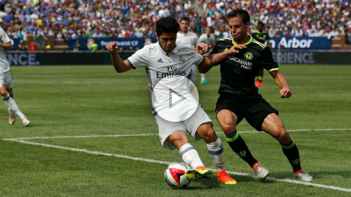 Sergio Díaz debutó con el Real Madrid ante el Chelsea. (Realmadrid.com)